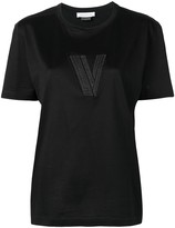 Versace Pre Owned logo embroidered T-shirt