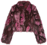 Pologeorgis The Cate Magenta Fur Coat