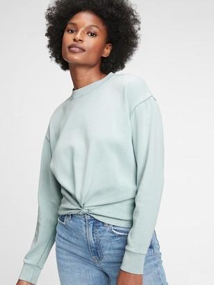 Gap Vintage Soft Twist-Front Crewneck Sweatshirt