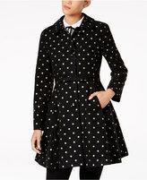 Kate Spade Dot-Print Skirted Walker Coat