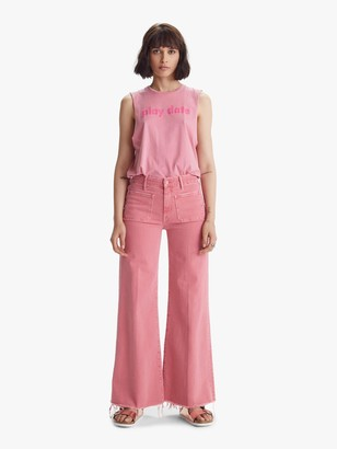 Mother The Patch Pocket Roller Fray - Mauve Glow