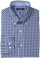 Nautica Men's Oversized Gingham Button-Down Collar Dress Shirt