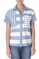 Kensie Stripe Button-Front Shirt