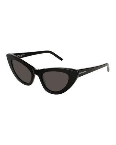 Saint Laurent Lily Cat-Eye Acetate Sunglasses, Black
