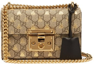 Gucci Padlock Gg Supreme Small Cross-body Bag - Womens - Black Multi