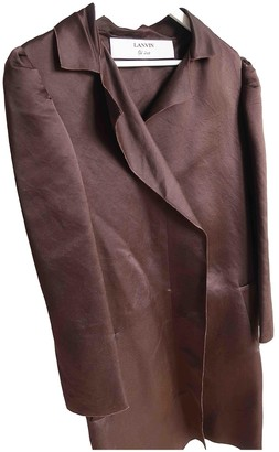 Lanvin Brown Silk Coat for Women
