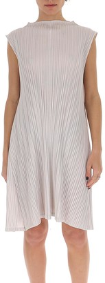 Pleats Please Issey Miyake Pleated Sleeveless Dress