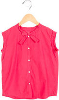 Bonpoint Girls' Sleeveless Button-Up Top