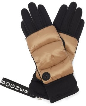 Bogner Quilted Technical-shell Gloves - Dark Beige