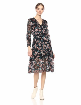 Ali & Jay Women's Treat ME Like A Lady Long Sleeve WRAP MIDI Dress