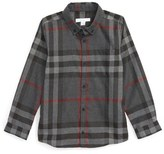 Burberry Mini Fred Check Flannel Woven Shirt (Little Boys & Big Boys)