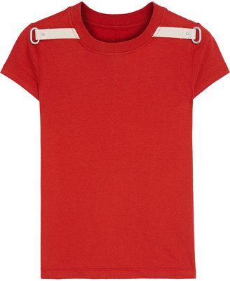 Rick Owens Strap-detailed Cotton-jersey T-shirt