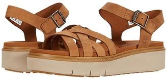 Timberland Safari Dawn Multi Strap Sandal (Rust Nubuck) Women's Shoes