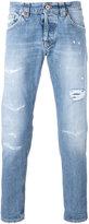Dondup shredded trim jeans - men - Cotton/Polyester - 32