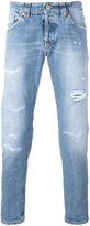 Dondup shredded trim jeans