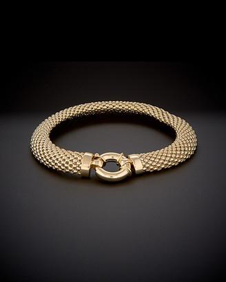Italian Gold 14K Puffed Mesh Bracelet