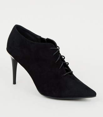 New Look Metal Trim Lace Up Shoe Boots