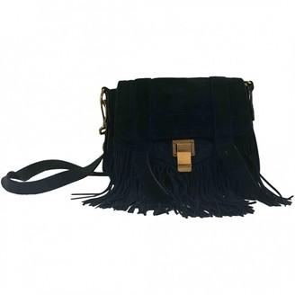 Proenza Schouler PS1 Navy Suede Handbags