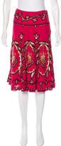 Temperley London Silk Embellished Skirt