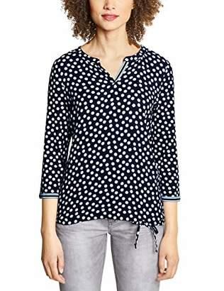 Street One Women's 313272 Longsleeve T - Shirt, Multicolour (deep Blue 238), (Size:38)