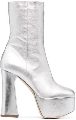 Philosophy di Lorenzo Serafini Metallic Platform Boots