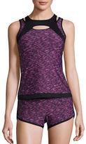 Calvin Klein Colorblocked Tankini Top