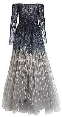 Pamella Roland Women's Off-The-Shoulder Embellished Ball Gown