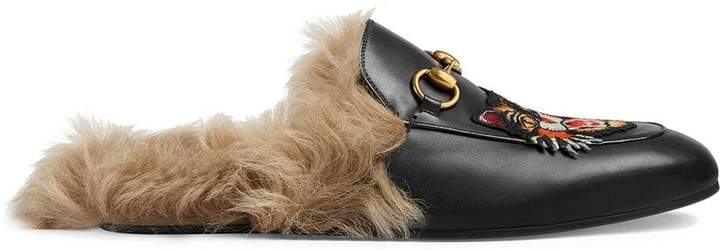 Gucci Princetown slippers with Angry Cat appliqué