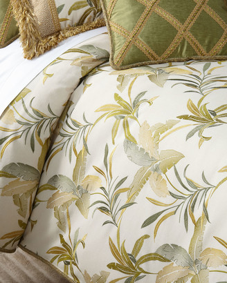 Dian Austin Couture Home Botanical Embroidered Queen Duvet