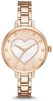 Kate Spade Metro Mother-of-Pearl Heart Analog Bracelet Watch