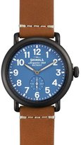 Shinola 41mm Runwell Leather Watch, Brown