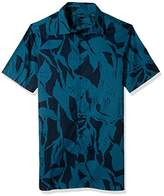 Perry Ellis Men's Big and Tall Short Sleeve Exploded Print Shirt