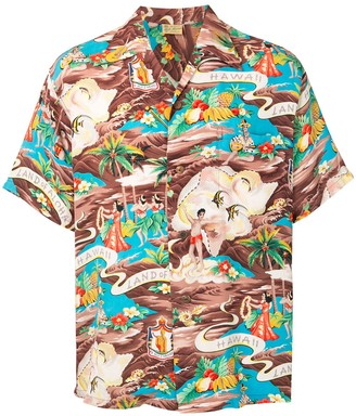 Fake Alpha Vintage 1950s Hawaiian short-sleeved shirt