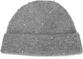 Sandro Crystal-embellished Melange Knitted Beanie