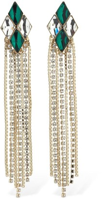 Anton Heunis Omega Diamond Cascade Earrings