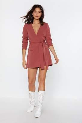 Nasty Gal Womens Great Minds Blazer Dress - Pink - 10