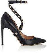 Valentino Women's Rockstud Leather Wraparound-Strap Pumps