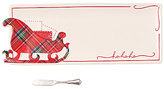 Mud Pie Holiday Tartan Sleigh Tray & Spreader