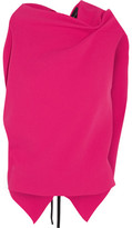 Roland Mouret Eugene Open-back Wool-crepe Top - Fuchsia