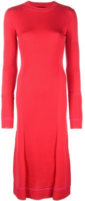 Proenza Schouler Ribbed Knit Long Sleeve Dress