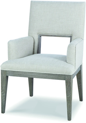 Century Furniture Kendall Linen Cutout Arm Chair