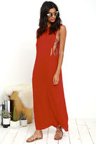 Obey Benny Red Maxi Dress