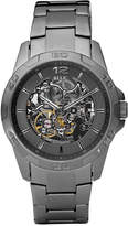 JCPenney RELIC Relic Mens Gunmetal Automatic Skeleton Watch ZR11853