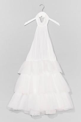 Nasty Gal Womens Just Tulle Good Halter Mini Dress - White