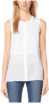 Michael Kors Sleeveless Crepe Blouse