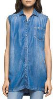 CK Calvin Klein Chambray Sleeveless Denim Shirt