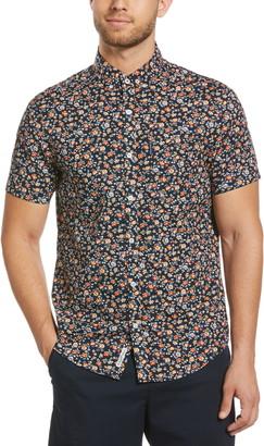 Original Penguin Slim Fit Floral Short Sleeve Button-Down Shirt