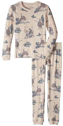 PJ Salvage Kids Wanted Western Peachy Two-Piece Jammie Set (Toddler/Little Kid/Big Kid)