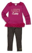 Juicy Couture Little Girl's & Girl's Two-Piece Ruffle Top & Pants Set