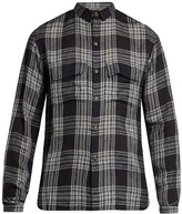 Denis Colomb Gaucho Checked Cashmere And Linen-blend Shirt